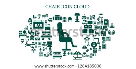 Phenomenal Chair Icon Set 93 Filled Chair Stock Vector Royalty Free Onthecornerstone Fun Painted Chair Ideas Images Onthecornerstoneorg