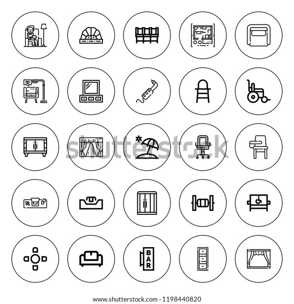 Miraculous Chair Icon Set Collection 25 Outline Signs Symbols Stock Image Cjindustries Chair Design For Home Cjindustriesco