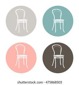 chair icon. symbol furniture. icon home interior