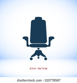 chair icon, vector best flat icon, EPS