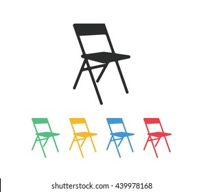 Chair icon, chair vector, folding chair vector