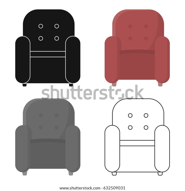 Chair icon of vector illustration for web and mobile