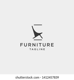 chair logo design vector icon illustration icon element isolated