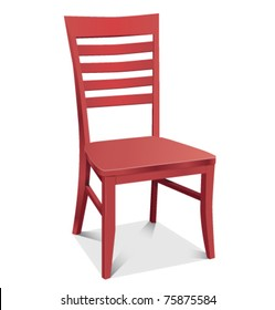 Chair red classic detailed vector illustration