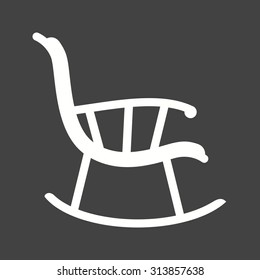 Chair, rocking, furniture icon vector image.Can also be used for furniture design. Suitable for mobile apps, web apps and print media.