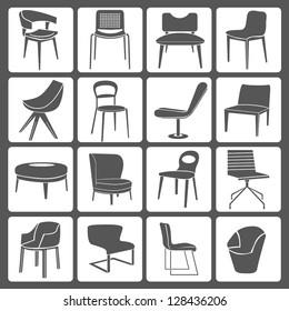 chair set, icon set