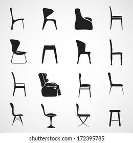 Chair silhouette vector