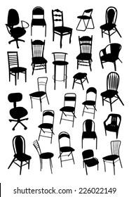 Chair Silhouettes Set