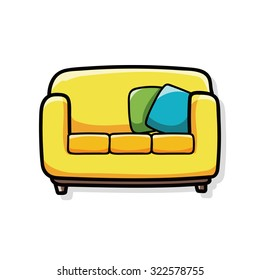 Sofa Cartoon Images Stock Photos Vectors Shutterstock