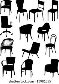 Chair vector - silhouette