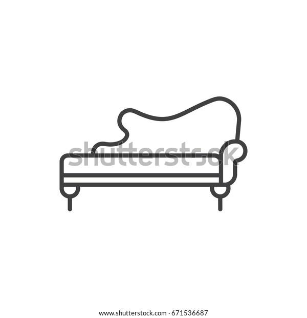 Astounding Chaise Lounge Line Icon Vintage Sofa Stock Vector Royalty Creativecarmelina Interior Chair Design Creativecarmelinacom