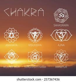 Chakra (background sunset sky) energy