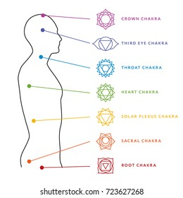 photo regarding Printable Chakra Chart titled Chakra Visuals, Inventory Shots Vectors Shutterstock