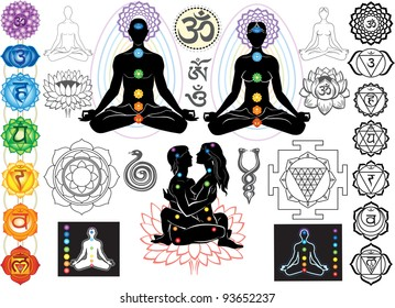 Chakras and esoteric symbols