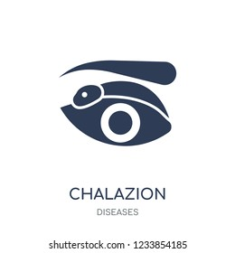 Chalazion icon. Chalazion filled symbol design from Diseases collection. Simple element vector illustration on white background