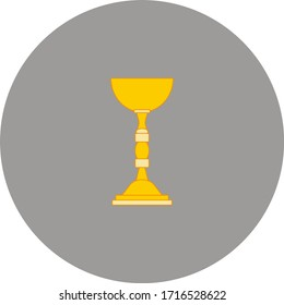 chalice of catholic church. Vector illustration for web and mobile design.