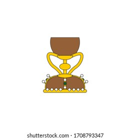 chalice of the holy grail of valencia, relic of christianity, illustration for web and mobile design.