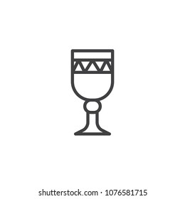 Chalice outline icon. linear style sign for mobile concept and web design. Holy Grail simple line vector icon. Symbol, logo illustration. Pixel perfect vector graphics