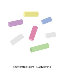 Chalk icon in flat style isolated vector illustration on white transparent background. Colored chalk vector.