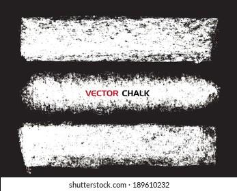 Chalk texture stripes. Vector design elements.