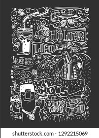 chalk wallpaper bear love beer in the bar or restaurant