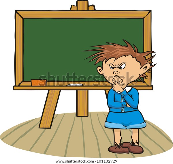 at the chalkboard - classroom