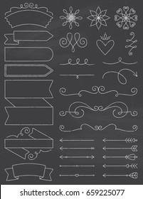 Chalkboard Doodle Design Elements
