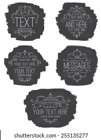 Chalkboard Flourish Labels