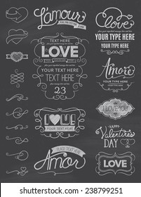 Chalkboard Love Design Elements