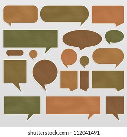 Chalkboard organic ecology speech bubbles and balloons illustration collection background vector
