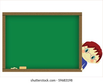 Chalkboard and pupil vector