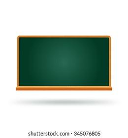 Chalkboard school board college green empty chalkboard template mockup. Place text logo photo product.