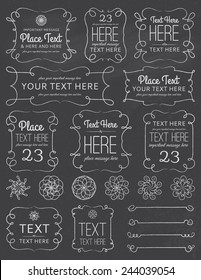 Chalkboard Swirl Frames & Elements