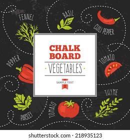 Chalkboard Vegetables