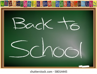 chalkboard with the words Back to School