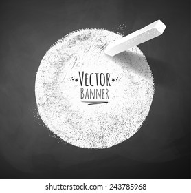 Chalked banner. Vector illustration. Isolated.
