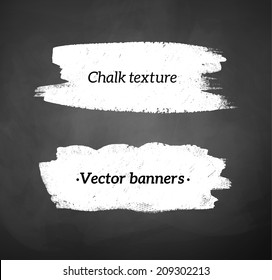 Chalked banners of blackboard background. Vector EPS 10.