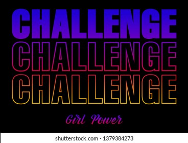 CHALLENGE, gradient graphic print t-shirts,activer wear