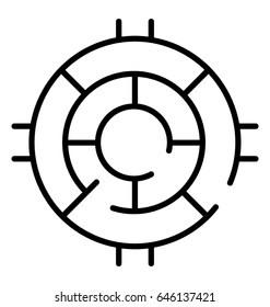Challenge Line Vector Icon