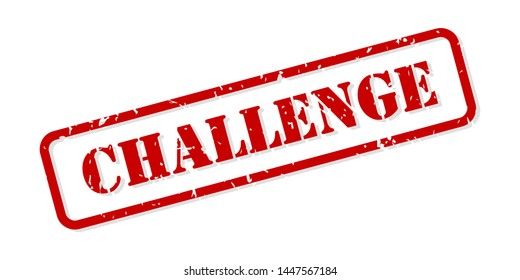 Challenge red rubber stamp vector isolated