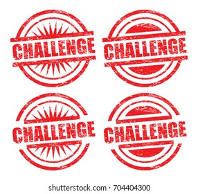 challenge rubber stamp, four variants