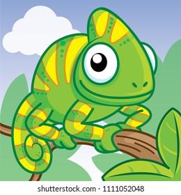 Cartoon Chameleon Images Stock Photos Vectors Shutterstock