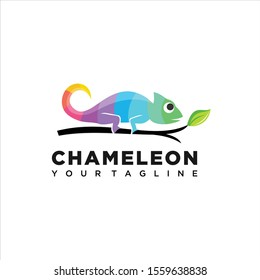 Chameleon Colorful Design concept Illustration Vector Template, Suitable for Creative Industry, Multimedia, entertainment, Educations, Shop, and any related business