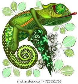 Chameleon Green Fantasy
