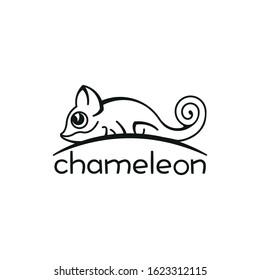Chameleon icon. Cartoon illustration vector design.