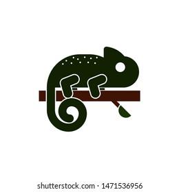 chameleon icon. flat illustration of chameleon - vector icon. chameleon sign symbol