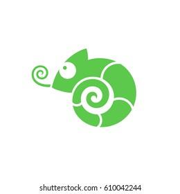Chameleon. Icon. Vector illustration EPS