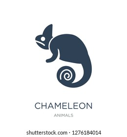 chameleon icon vector on white background, chameleon trendy filled icons from Animals  collection, chameleon vector illustration