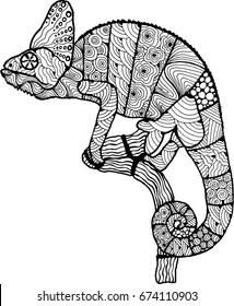 chameleon. lizard. amphibian. Doodle. chameleon tatoo