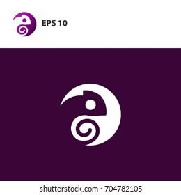 chameleon logo concept
